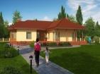 Проект просторного дома с гаражом и цоколем